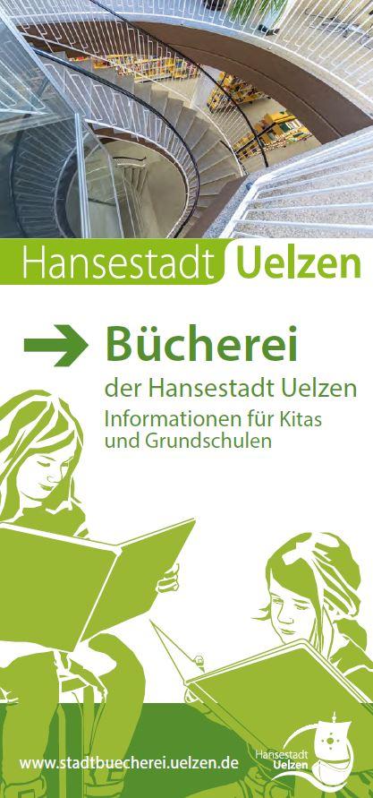 Büchereifaltblatt für Kitas und Grundschulen