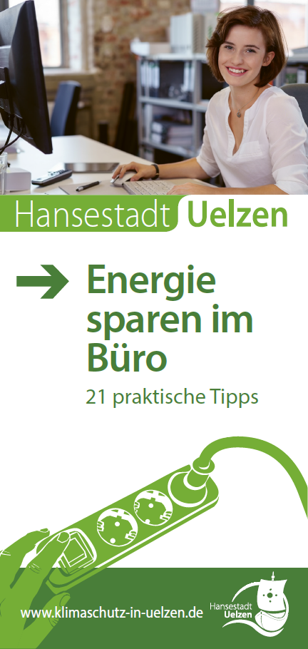 Titel Faltblatt Energiesparen