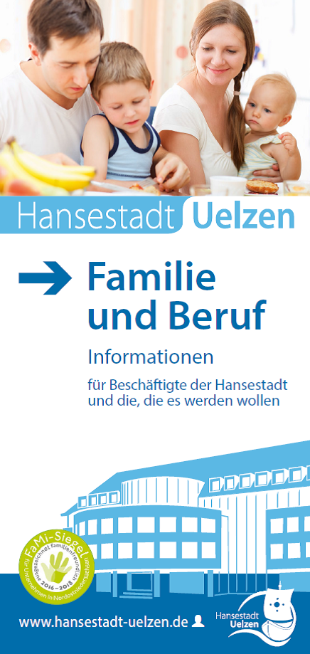 Titel Faltblatt Familie und Beruf