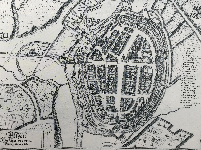 Mittelalterlicher Stadtgrundriss