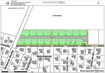 Im Deinefelde - Entwurf der Wohnbebauung