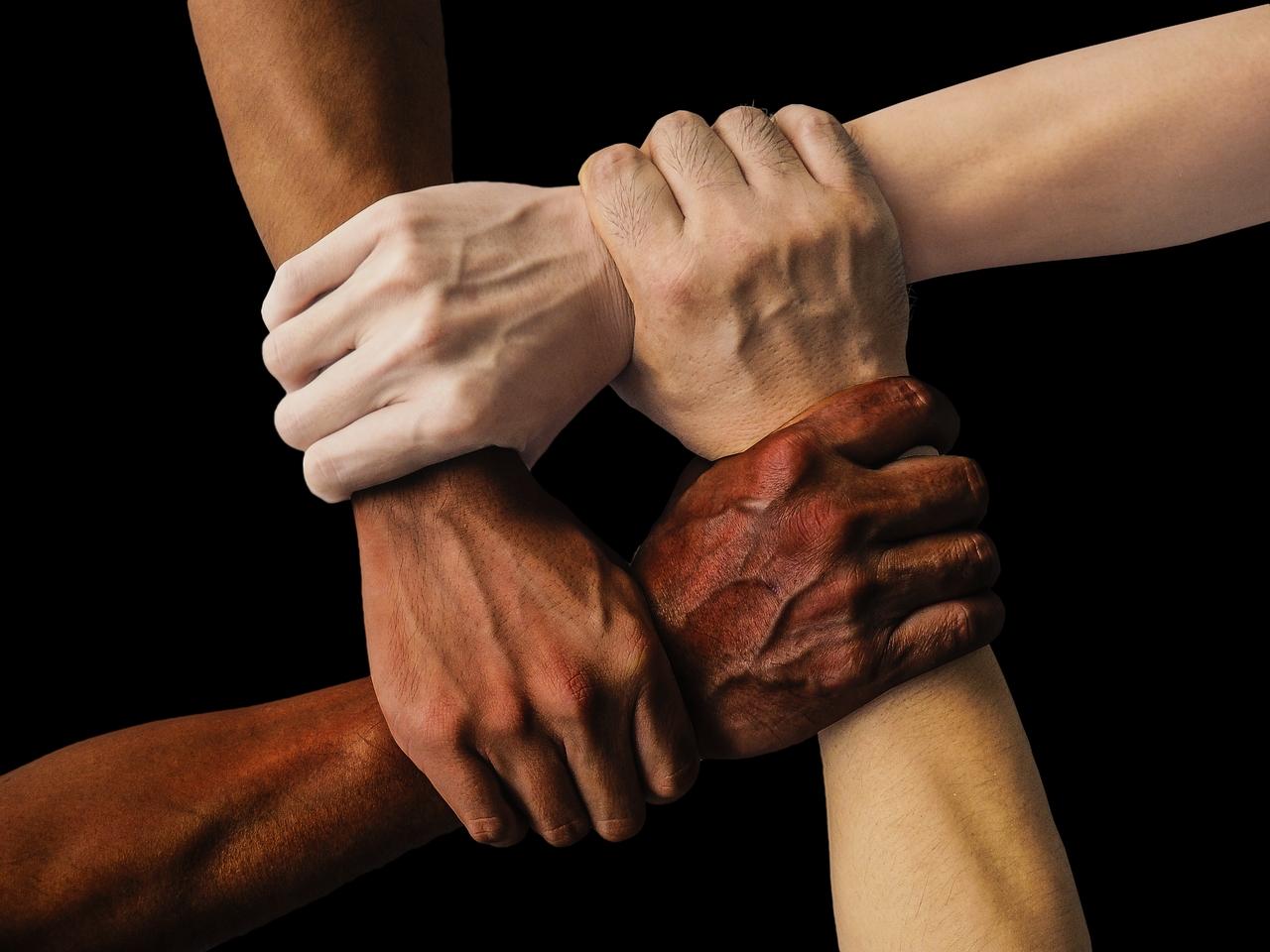 Vielfalt Hände